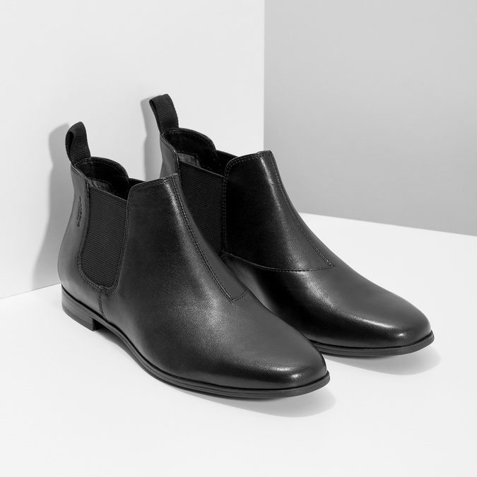 Černé kožené Chelsea Boots vagabond, černá, 514-6097 - 26