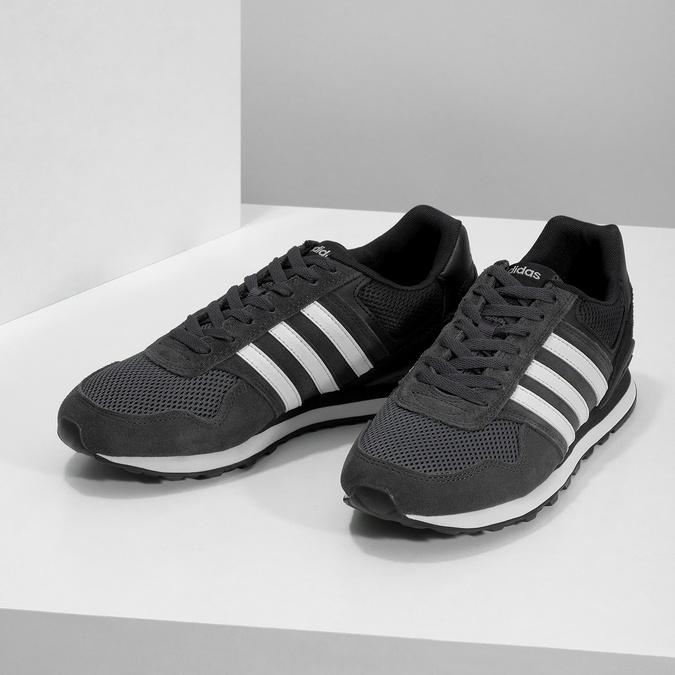 Černé pánské tenisky z broušené kůže adidas, černá, 803-6293 - 16