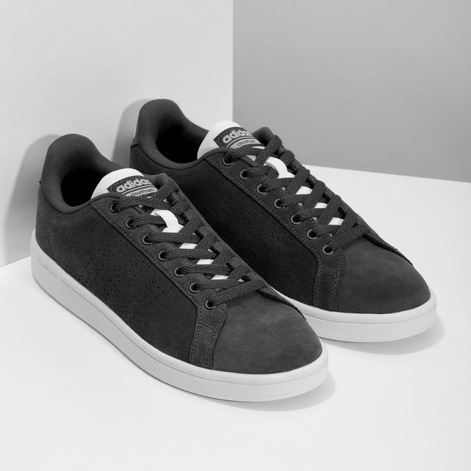 Ležérní tenisky z broušené kůže adidas, černá, 803-6394 - 26