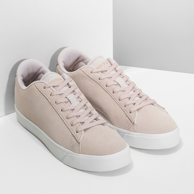 Růžové tenisky z broušené kůže adidas, růžová, 503-2554 - 26