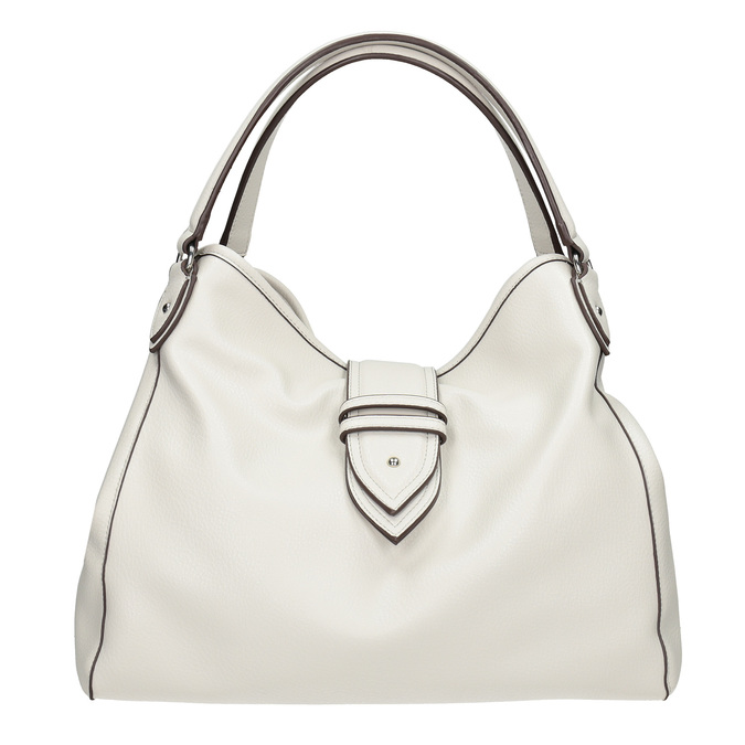 Bílá kabelka s přezkou bata, bílá, 961-1681 - 26
