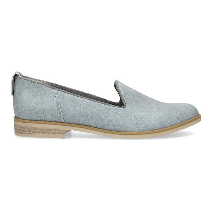 Kožená dámská Loafers obuv bata, modrá, 519-9605 - 19