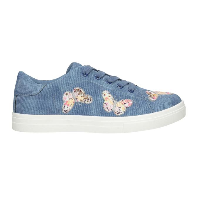Modré dívčí tenisky s motýlky mini-b, modrá, 321-9618 - 26