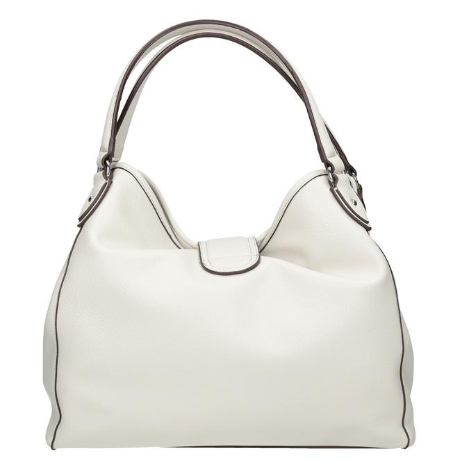 Bílá kabelka s přezkou bata, bílá, 961-1681 - 16