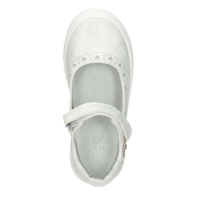 Dětské baleríny se třpytkami mini-b, bílá, 221-1216 - 15