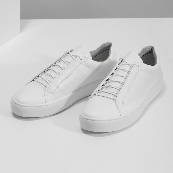 Bílé kožené tenisky dámské vagabond, bílá, 624-1019 - 16