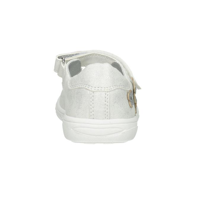Dětské baleríny se třpytkami mini-b, bílá, 221-1216 - 16
