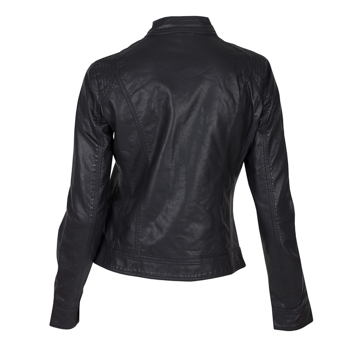 Černá koženková bunda dámská bata, černá, 971-6206 - 26