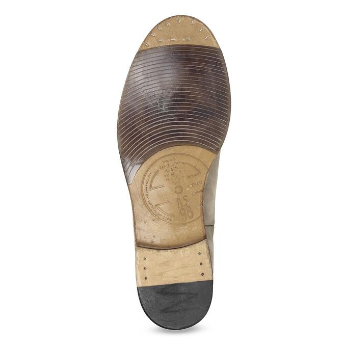 Kožené pánské polobotky s perforací a-s-98, béžová, 826-8011 - 18