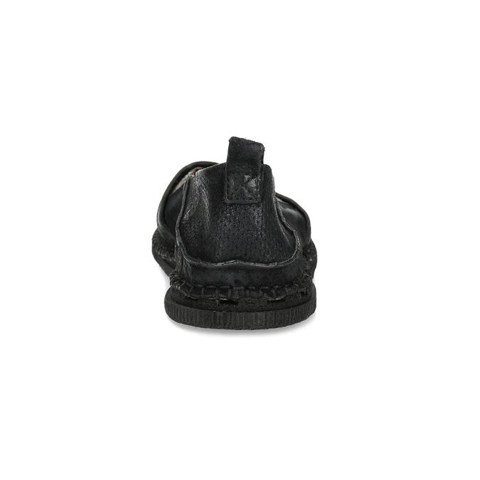 Ležérní kožené Slip-on boty a-s-98, černá, 816-6058 - 15