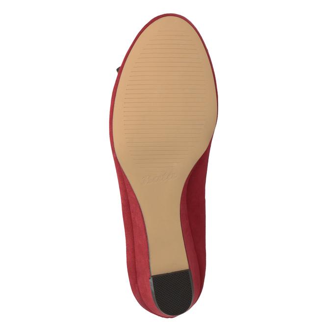 Červené baleríny na klínku bata, červená, 629-5633 - 19
