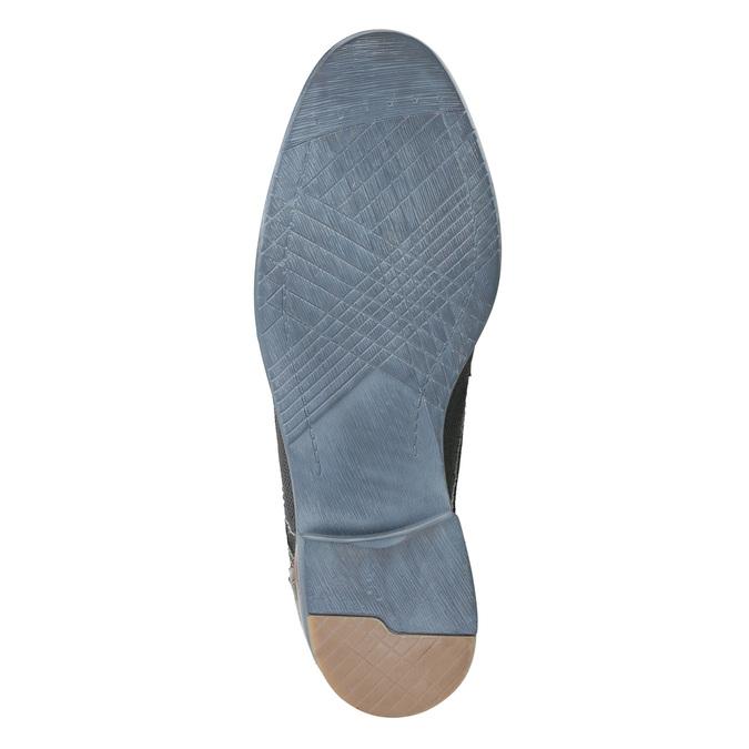 Kožené polobotky se strukturou bata, modrá, 826-9928 - 19