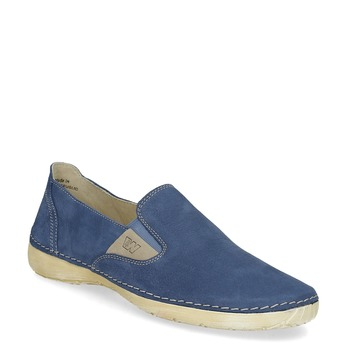 Dámské kožené Slip-on modré weinbrenner, 536-9606 - 13
