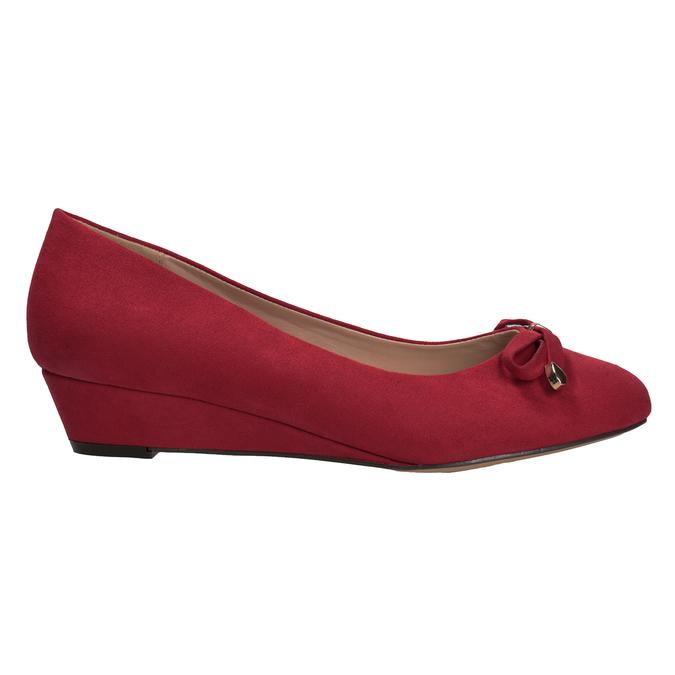 Červené baleríny na klínku bata, červená, 629-5633 - 16