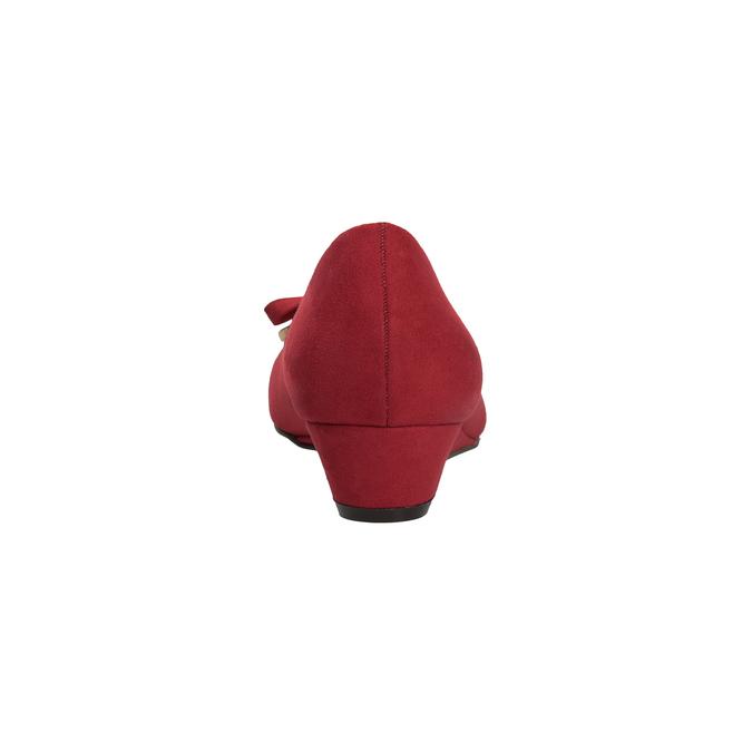Červené baleríny na klínku bata, červená, 629-5633 - 15