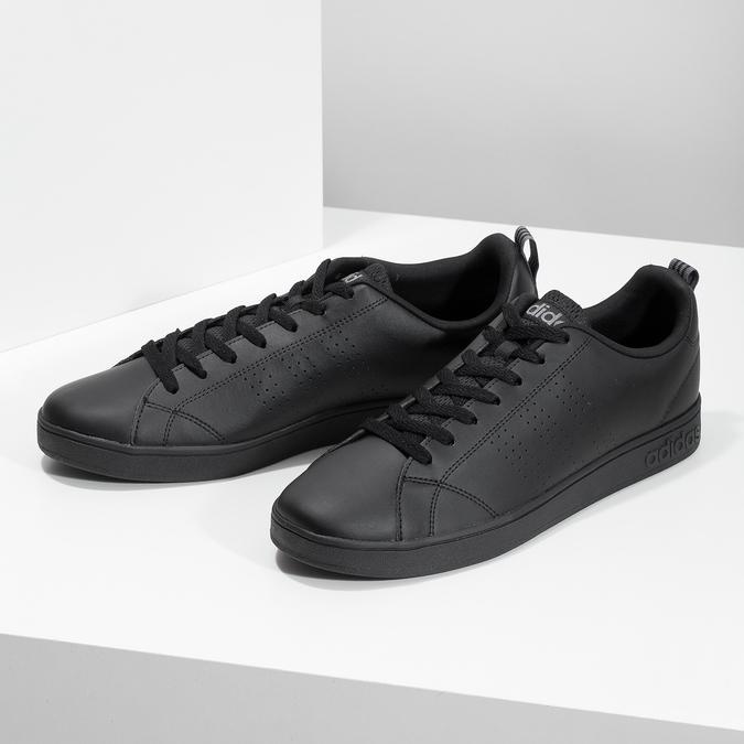 Pánské černé tenisky adidas, černá, 801-6144 - 16