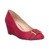 Červené lodičky na klínku insolia, červená, 729-5618 - 13