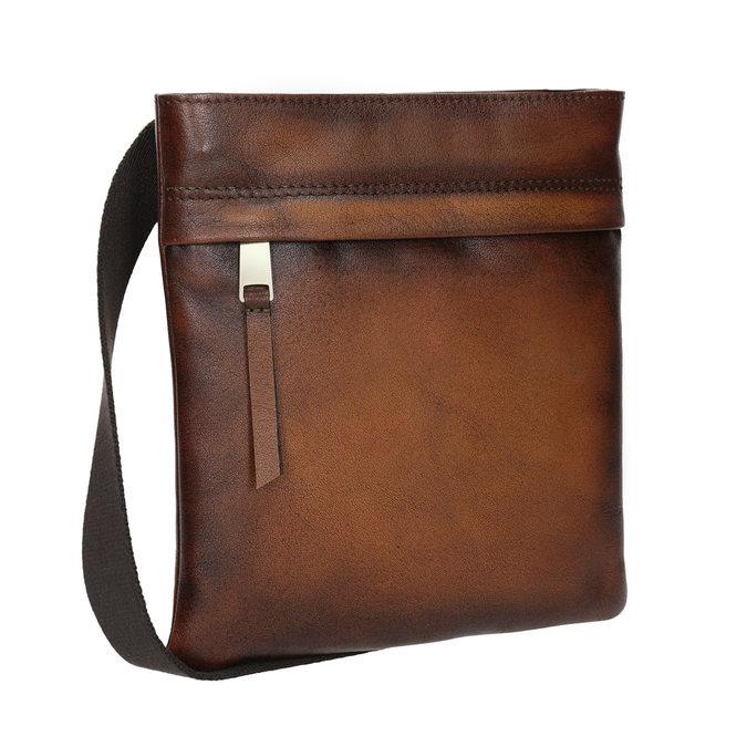 Kožená pánská Crossbody taška bata, hnědá, 964-3284 - 13