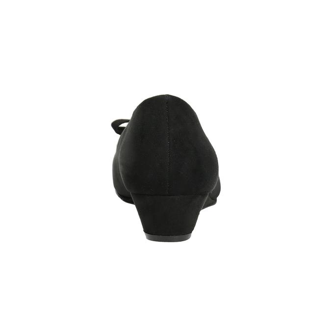 Lodičky na klínku s mašlí bata, černá, 629-6633 - 15