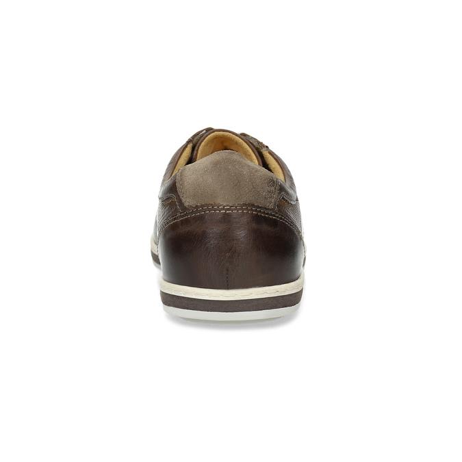 Kožené pánské tenisky bata, hnědá, 846-4617 - 15