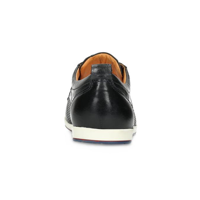 Ležérní kožené polobotky bata, modrá, černá, 824-9124 - 15