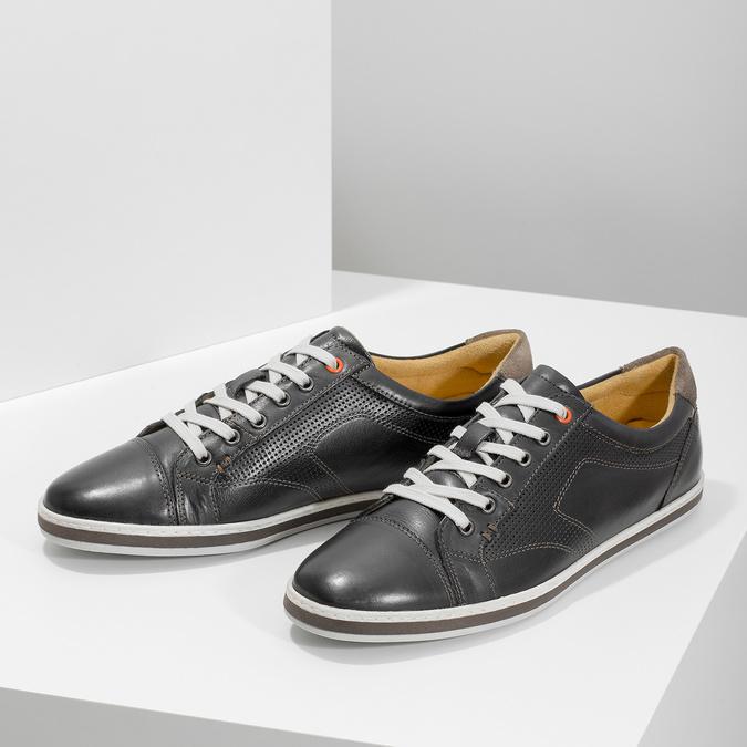 Pánské kožené tenisky bata, černá, 846-6617 - 16