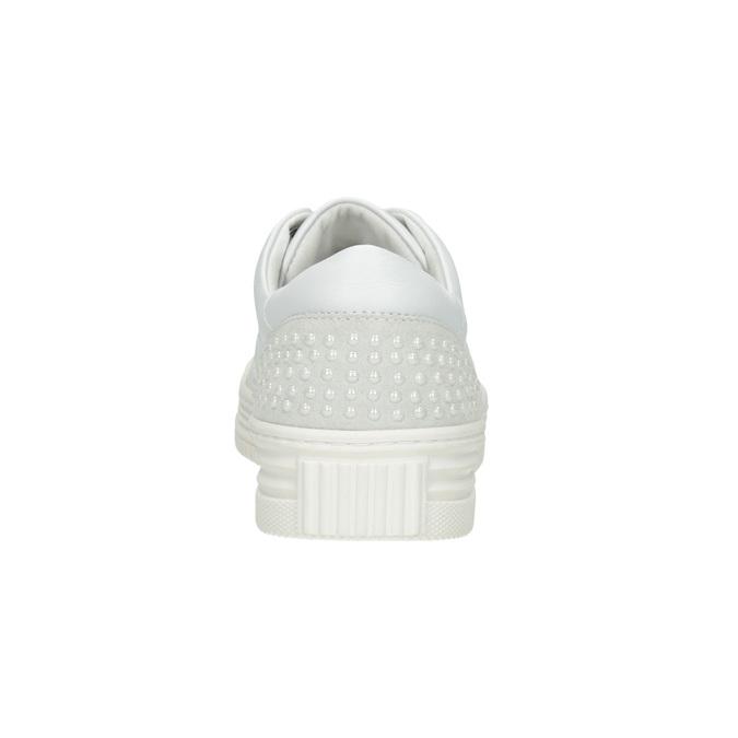 Dámské kožené ležérní tenisky bata, bílá, 544-1606 - 16