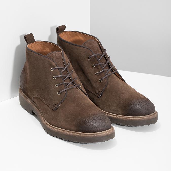 Kožená obuv ve stylu Chukka Boots bata, hnědá, 823-4627 - 26