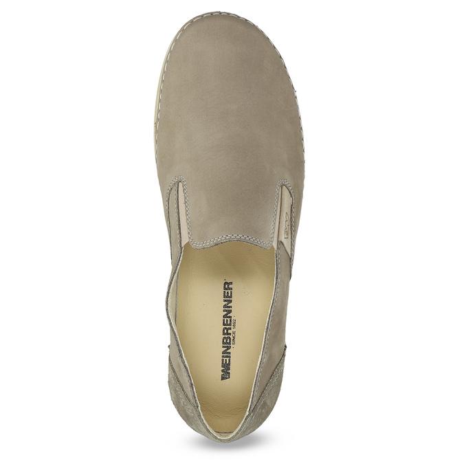 Kožené boty ve stylu Slip-on weinbrenner, béžová, 536-3606 - 17