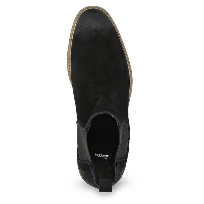 Chelsea Boots z broušené kůže bata, černá, 823-6628 - 17