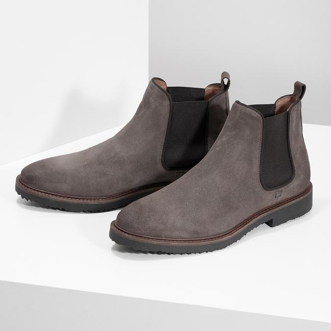 Kožené Chelsea Boots na výrazné podešvi bata, 823-8628 - 16