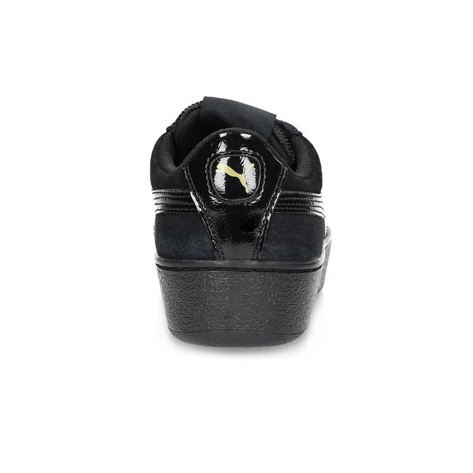 Dámské tenisky z broušené kůže puma, černá, 503-6923 - 15