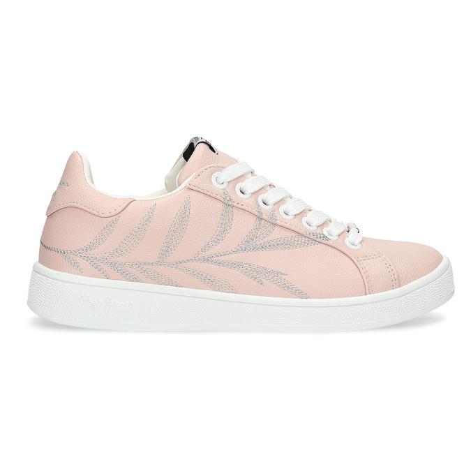 Růžové tenisky s výšivkou pepe-jeans, růžová, 546-5077 - 19