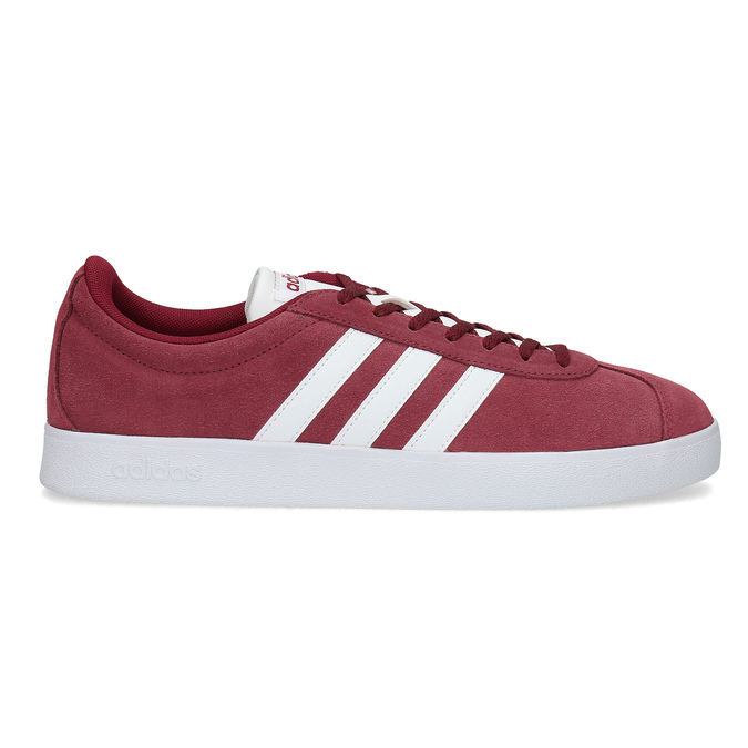 Červené pánské tenisky z broušené kůže adidas, červená, 803-5379 - 19
