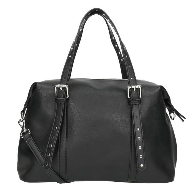 Černá kabelka s kovovými cvoky bata, černá, 961-6834 - 16