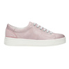 Kožené růžové tenisky s perličkami bata, růžová, 546-5606 - 26
