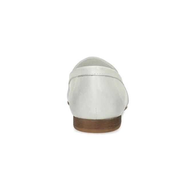 Dámské kožené mokasíny s přezkou bata, bílá, 516-1615 - 15