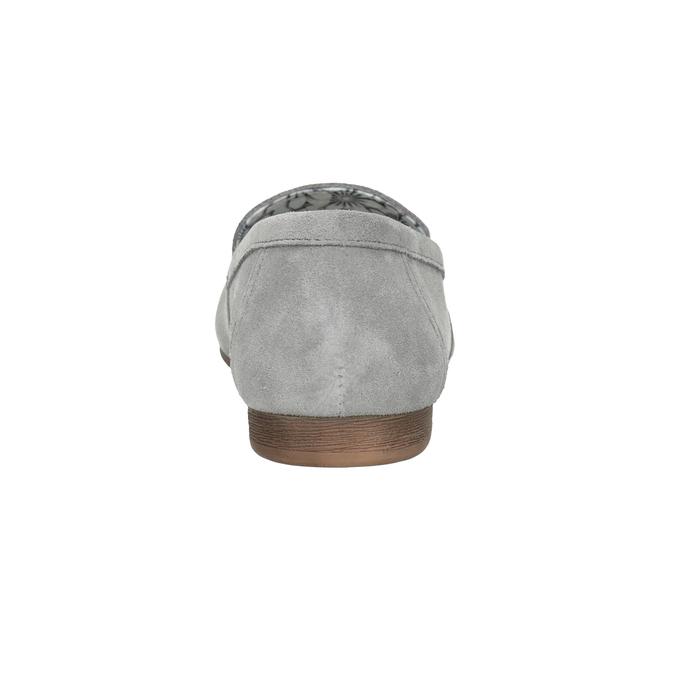 Šedé kožené mokasíny bata, šedá, 513-2615 - 16