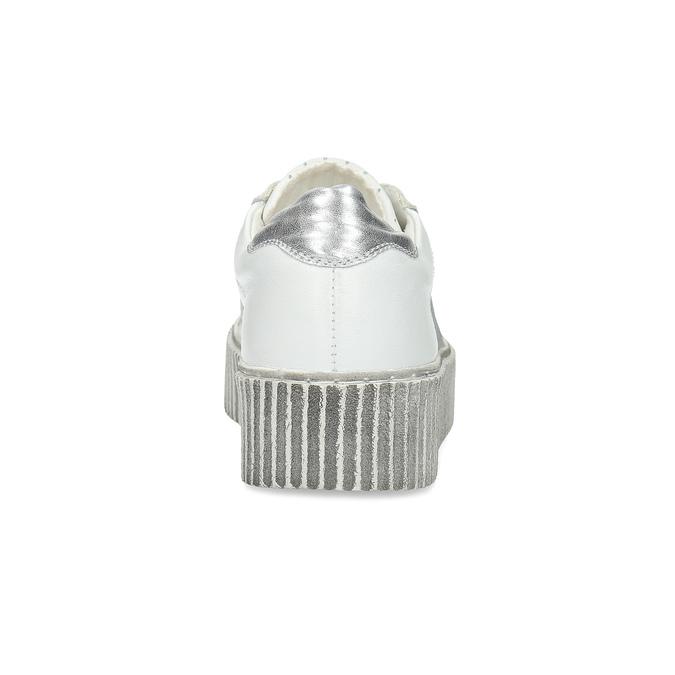 Kožené bílé tenisky s výraznou podešví bata, bílá, 546-1616 - 15