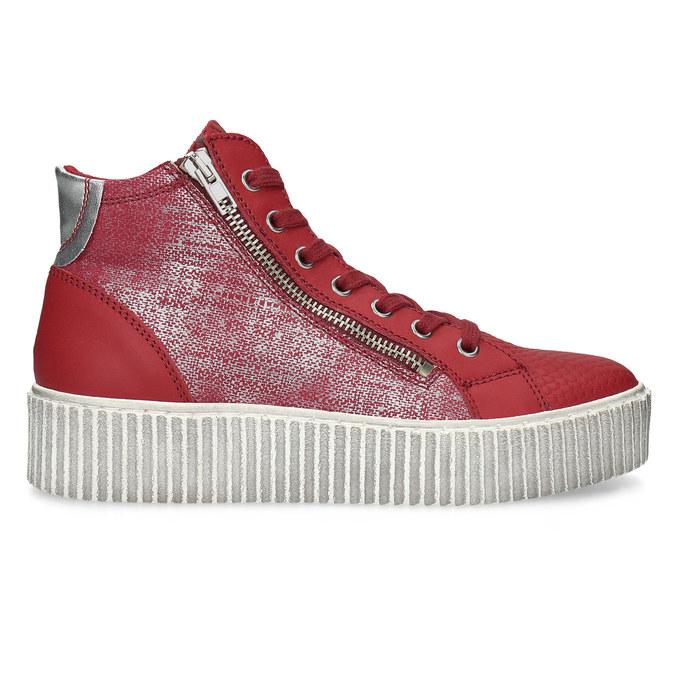 Kožené kotníčkové tenisky červené bata, červená, 596-5692 - 19