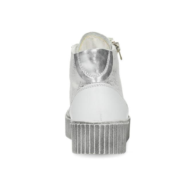Kožené kotníčkové tenisky s výraznou podešví bata, bílá, 596-1692 - 15
