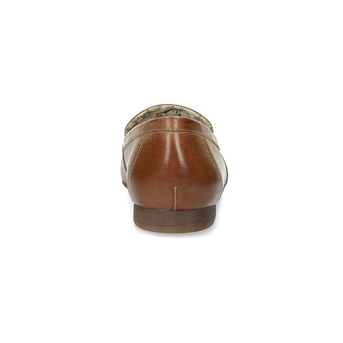 Hnědé kožené mokasíny s přezkou bata, hnědá, 516-3615 - 15