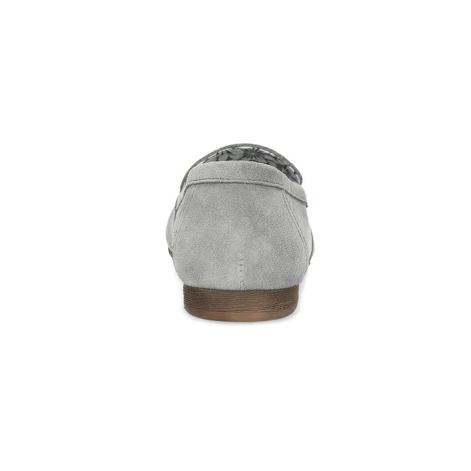 Šedé kožené mokasíny bata, šedá, 513-2615 - 15