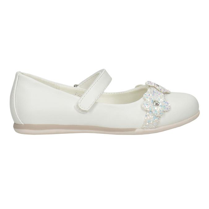 Bílé baleríny s kytičkami a třpytkami mini-b, bílá, 229-1106 - 26