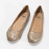 Zlaté dámské baleríny bata, 529-8640 - 16