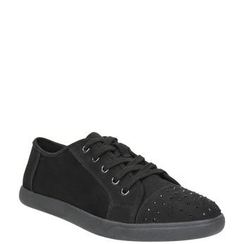 Dámské černé ležérní tenisky bata-light, černá, 549-6607 - 13