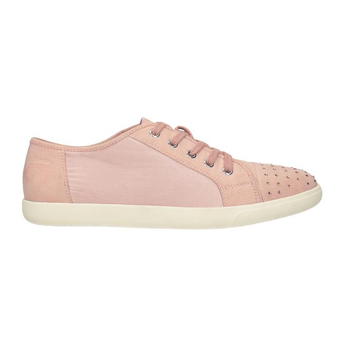 Růžové ležérní tenisky s kamínky bata-light, 549-5607 - 26