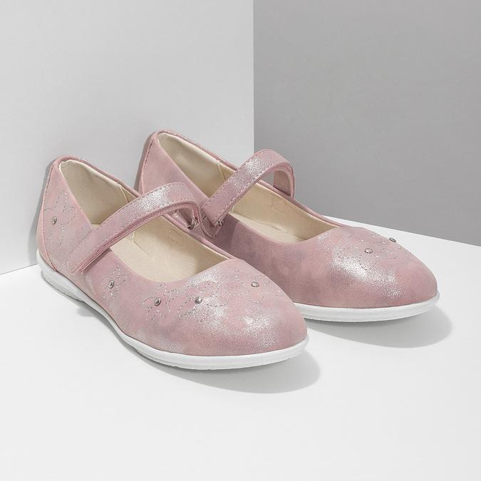 Dívčí růžové baleríny se cvočky mini-b, růžová, 321-5615 - 26