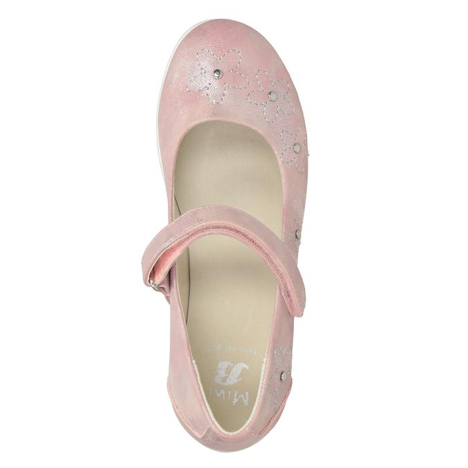 Dívčí růžové baleríny se cvočky mini-b, růžová, 321-5615 - 15
