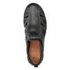 Pánské kožené sandály s prošitím comfit, černá, 856-6605 - 17